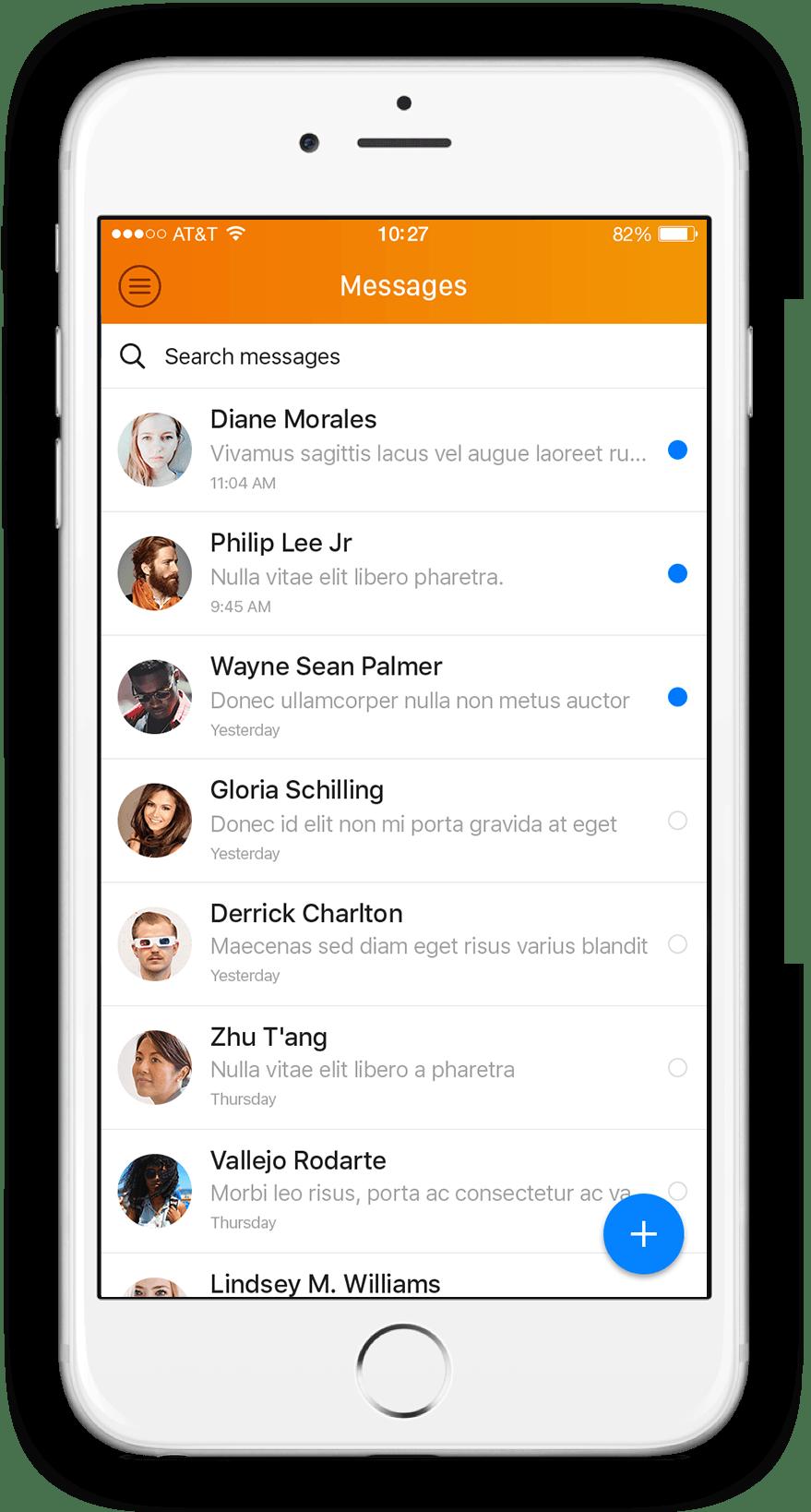 Virtuagym personal trainer app messenger